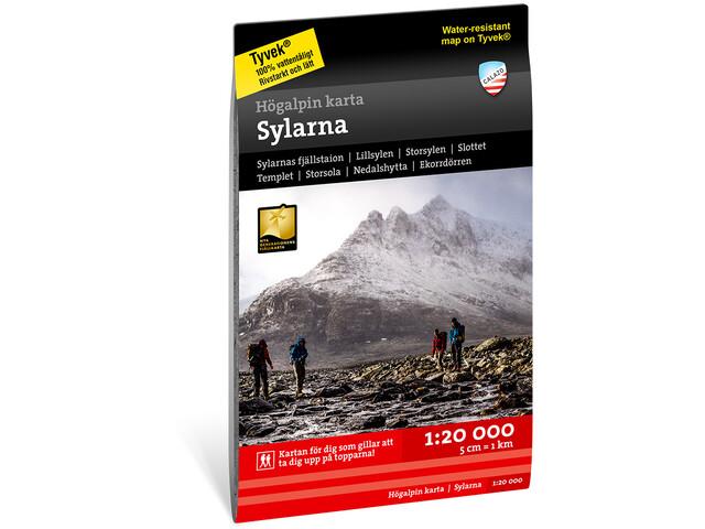 Calazo Högalpin karta Sylarna 1:20.000